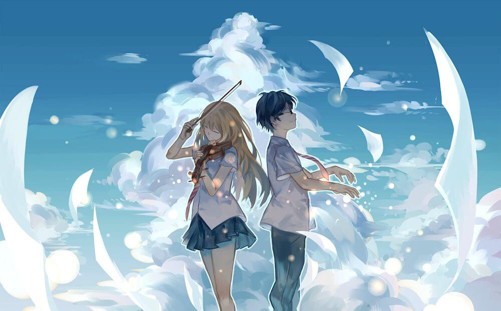 Hình anime buồn, đáng yêu