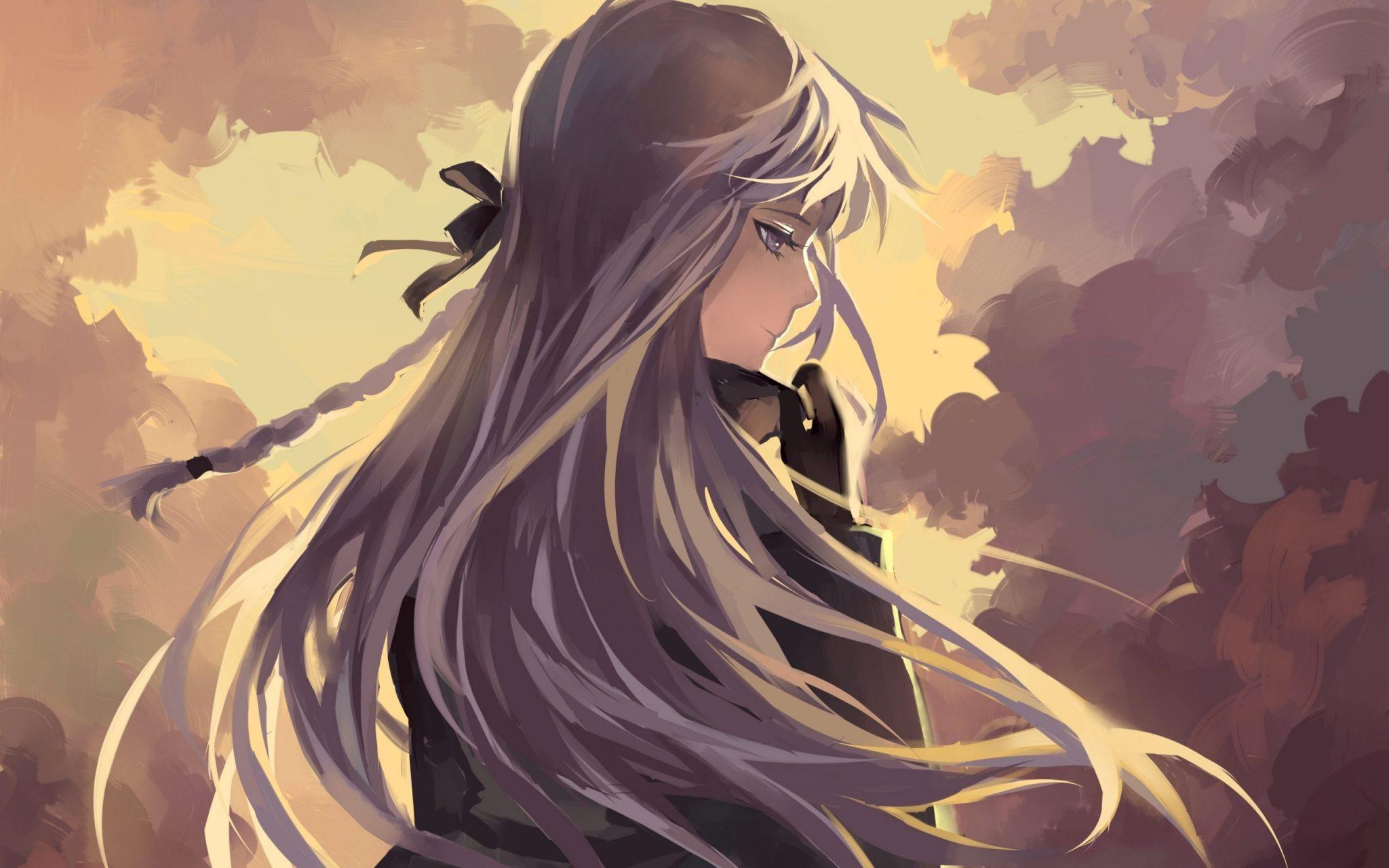 Hình anime nữ ngầu buồn đẹp