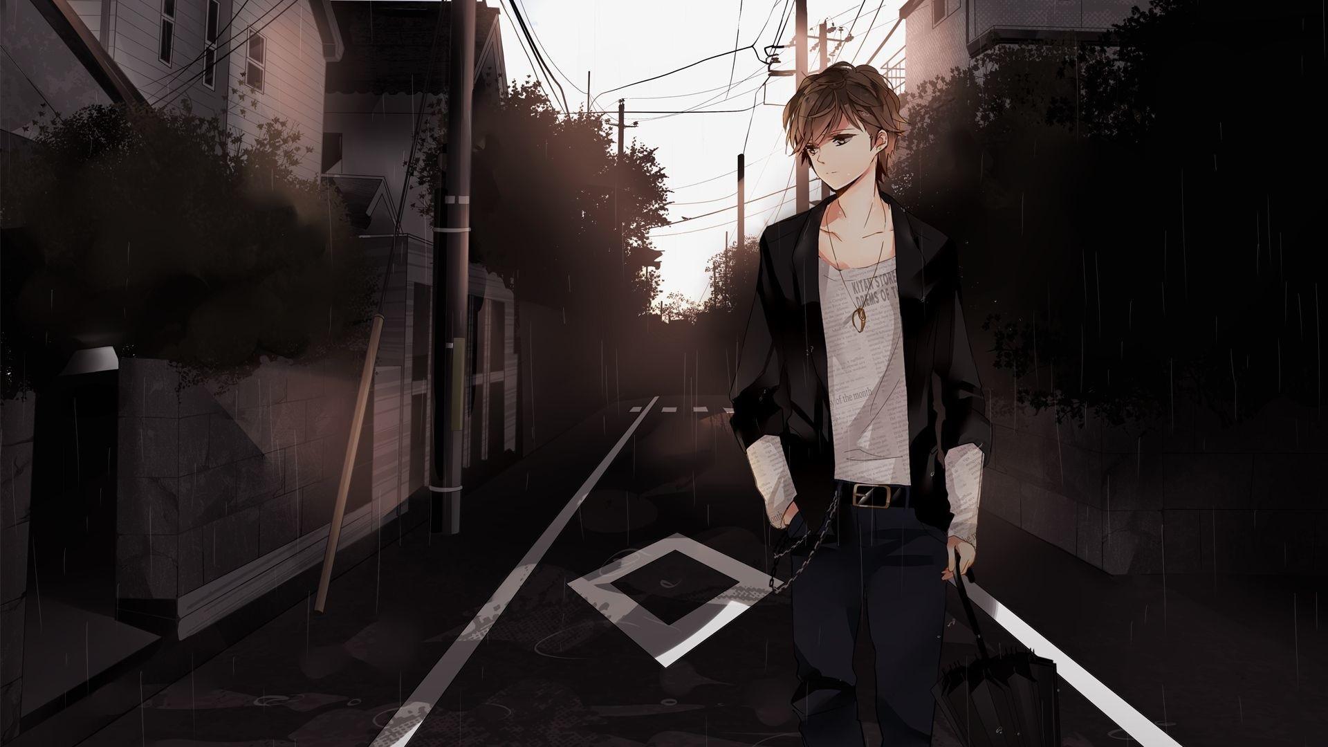 Hình anime trai lạnh lùng, ngầu, buồn