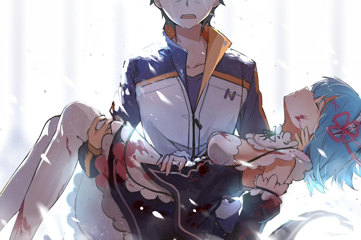 Hình boy anime buồn, đau khổ, tuyệt vọng vì mất người yêu