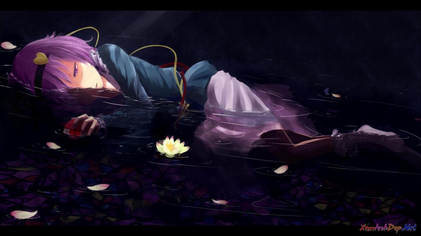 Hình girl anime buồn cô đơn thất tình