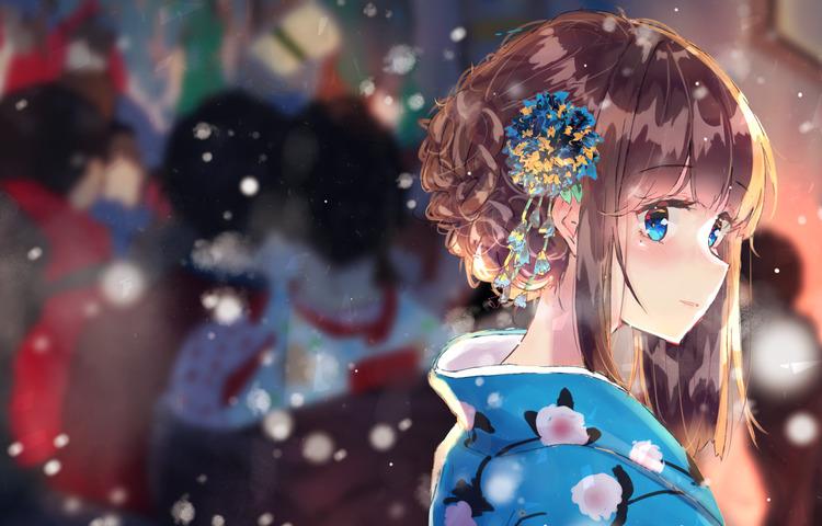 Hình nền anime buồn cực đẹp