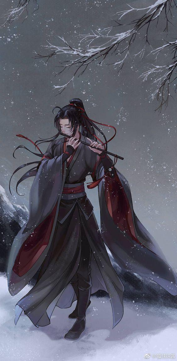 Hình nền boy anime cổ trang buồn đẹp