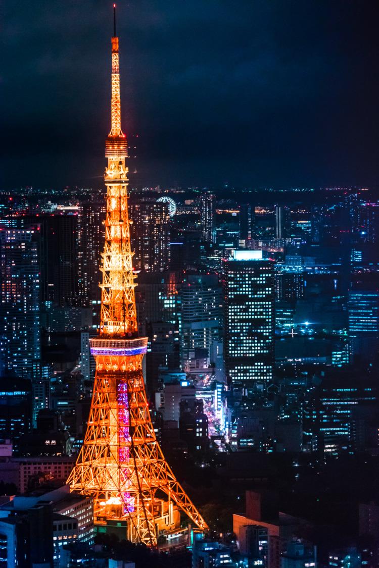 Hình nền tháp Tokyo cho điện thoại