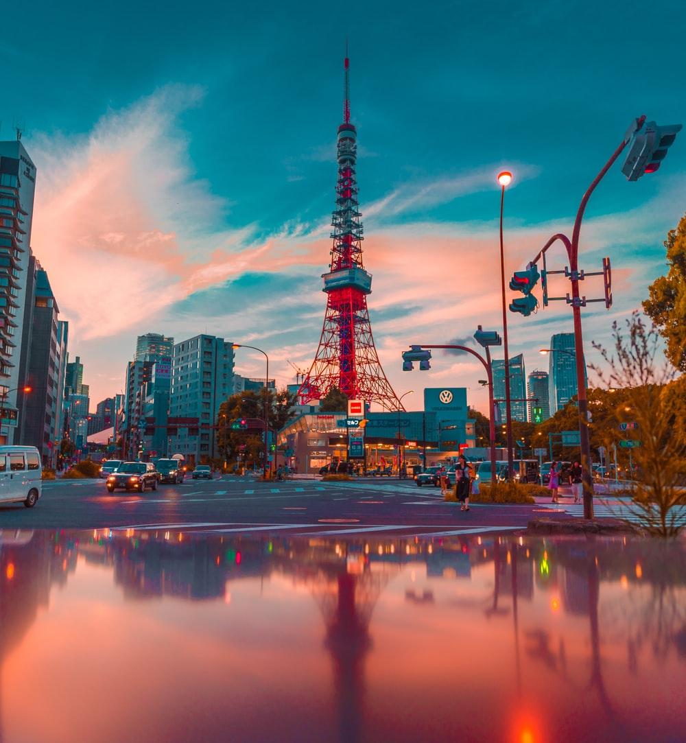 Hình tháp Tokyo đẹp nhất