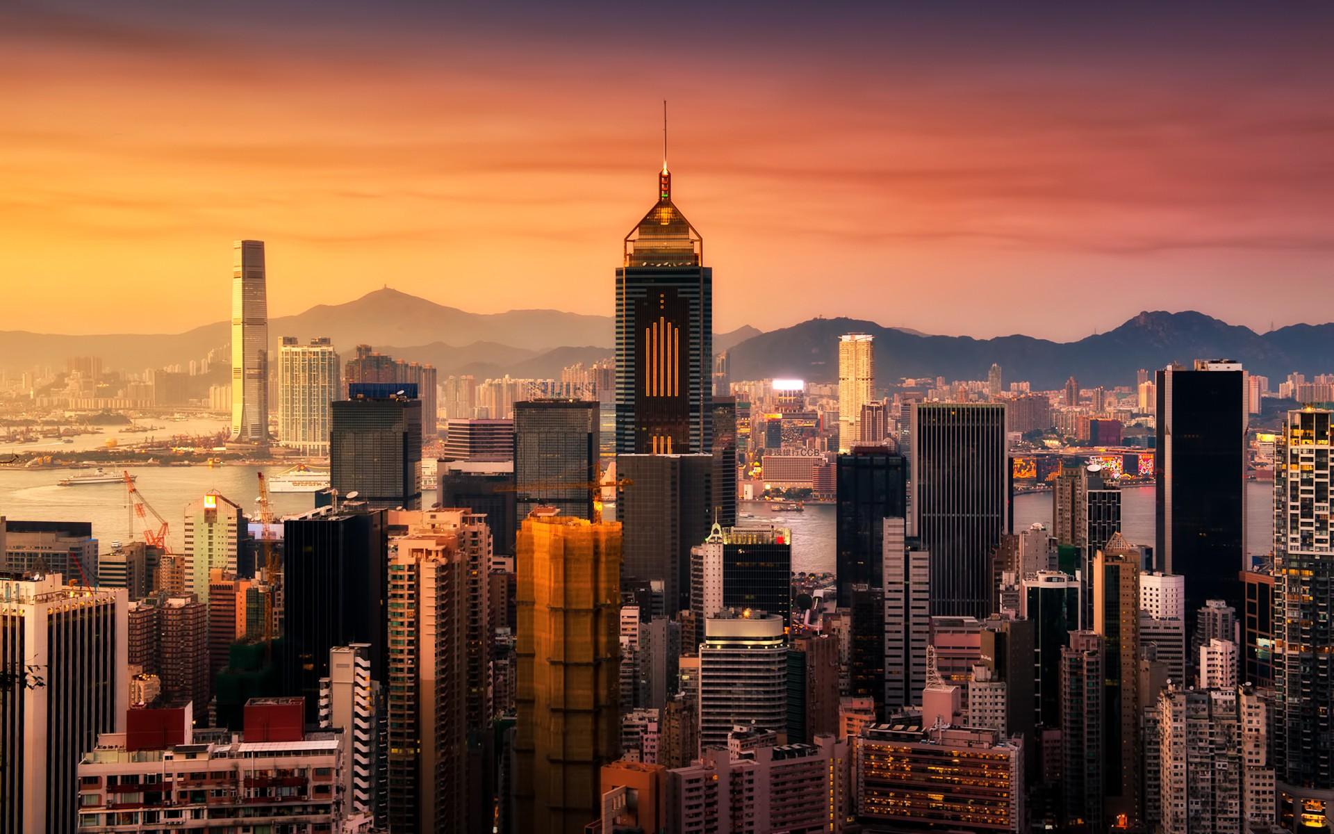 Hong Kong at Sunrise