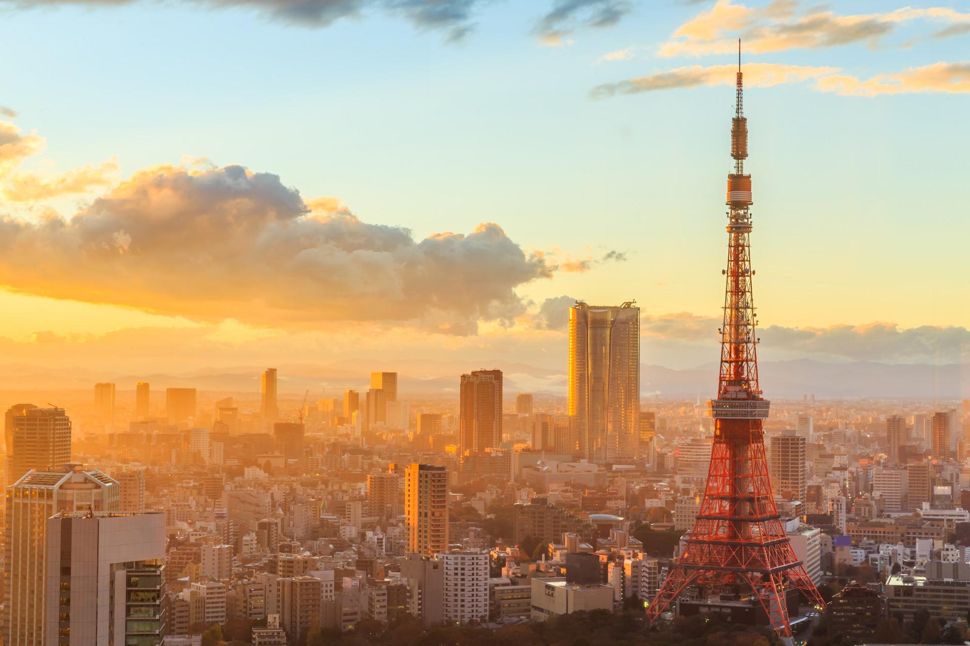 Khung cảnh tháp Tokyo đẹp nhất