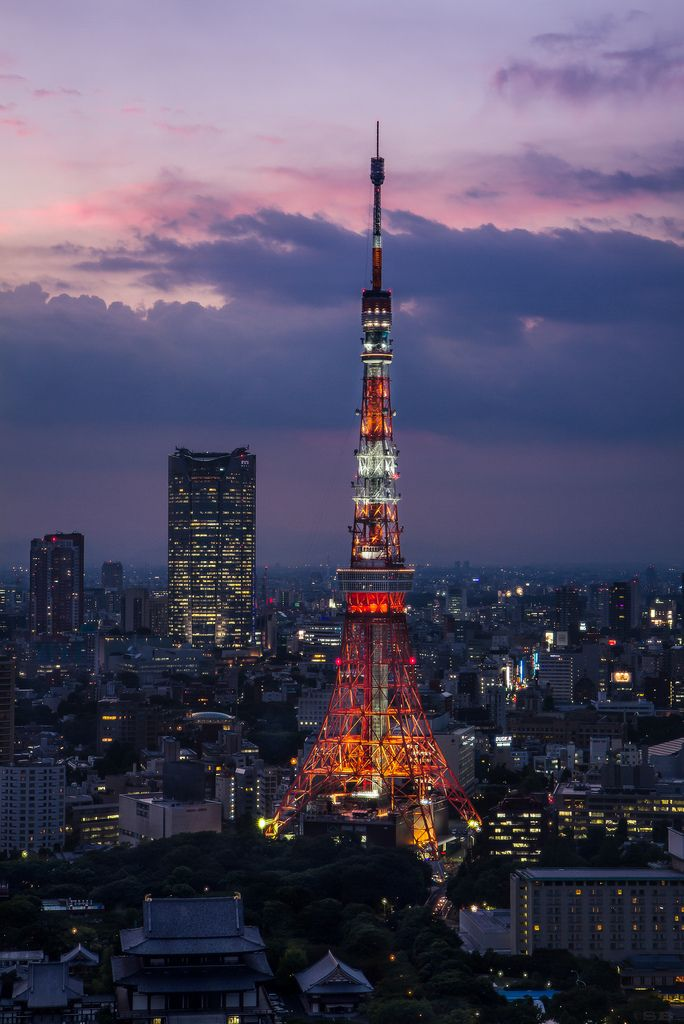 Tokyo Tower Sunset images