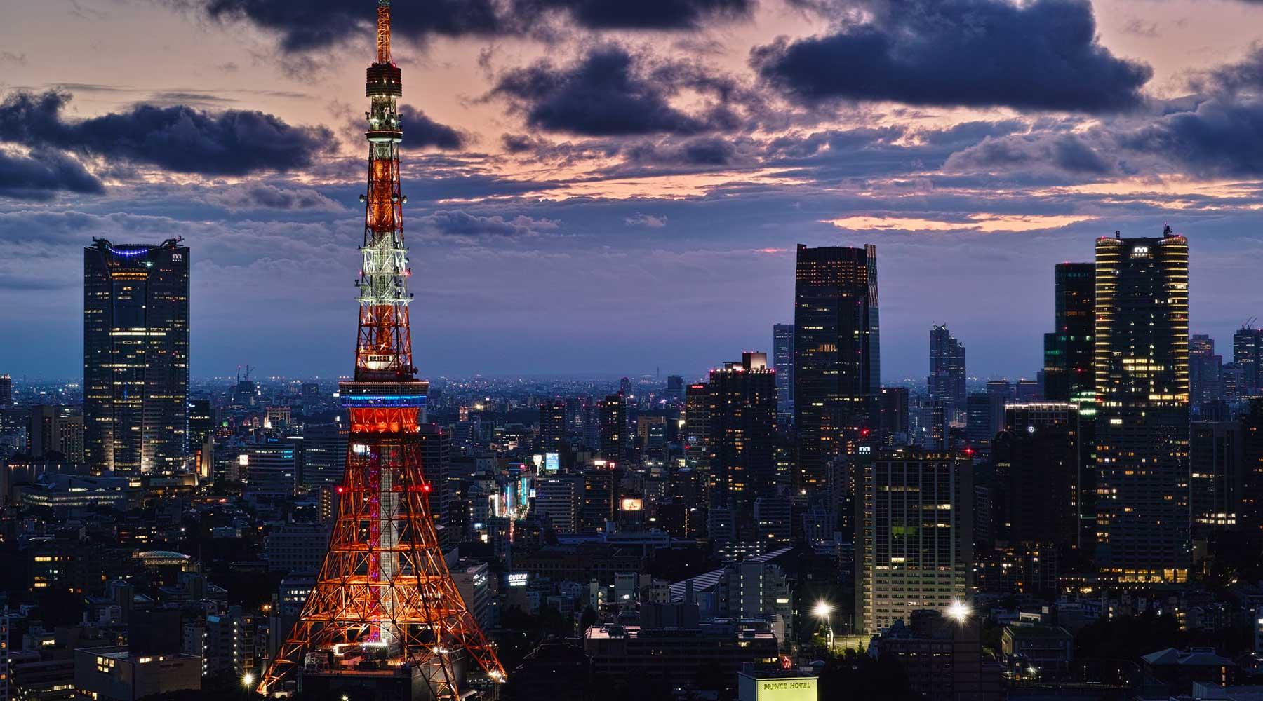 Vẻ đẹp lộng lẫy của tháp Tokyo