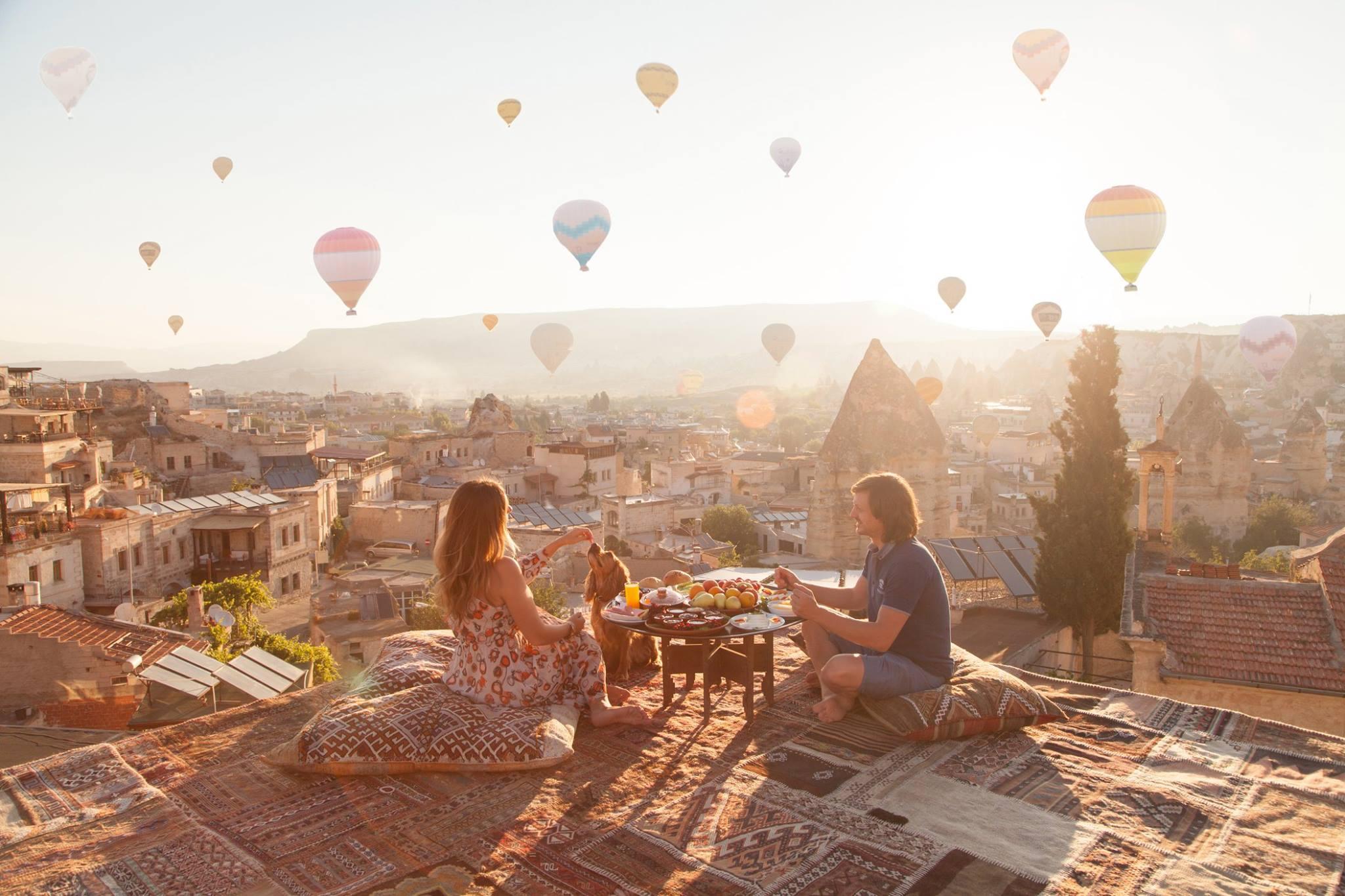 Ảnh bầu trời khinh khí cầu ở Thổ Nhĩ Kỳ