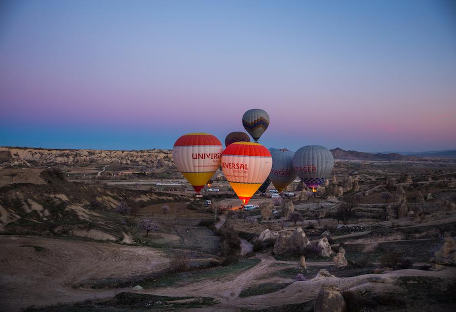 Ảnh khinh khí cầu ở Cappadocia Thổ Nhĩ Kỳ