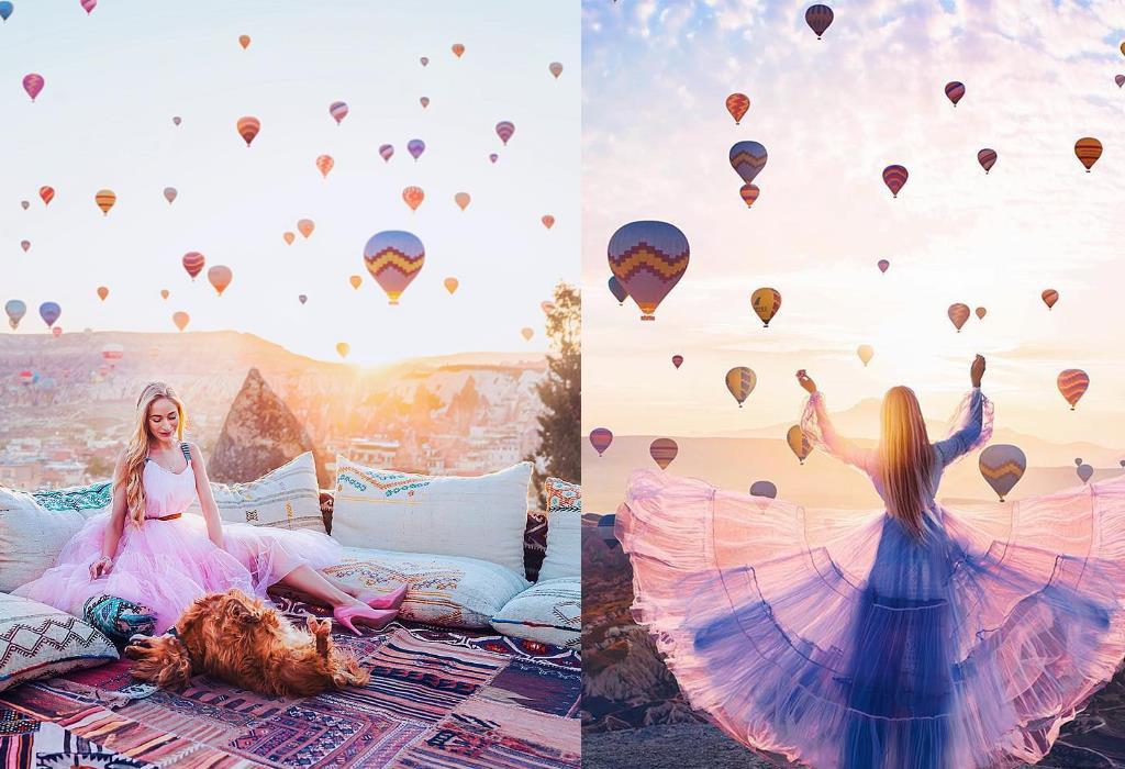 Ảnh khinh khí cầu ở Thổ Nhĩ Kỳ