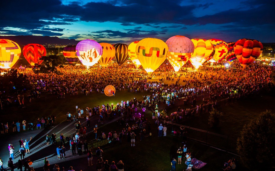 Ảnh lễ hội khinh khí cầu quốc tế albuquerque hoa kỳ