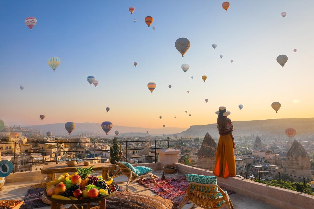 Hình ảnh bầu trời khinh khí cầu ở Thổ Nhĩ Kỳ