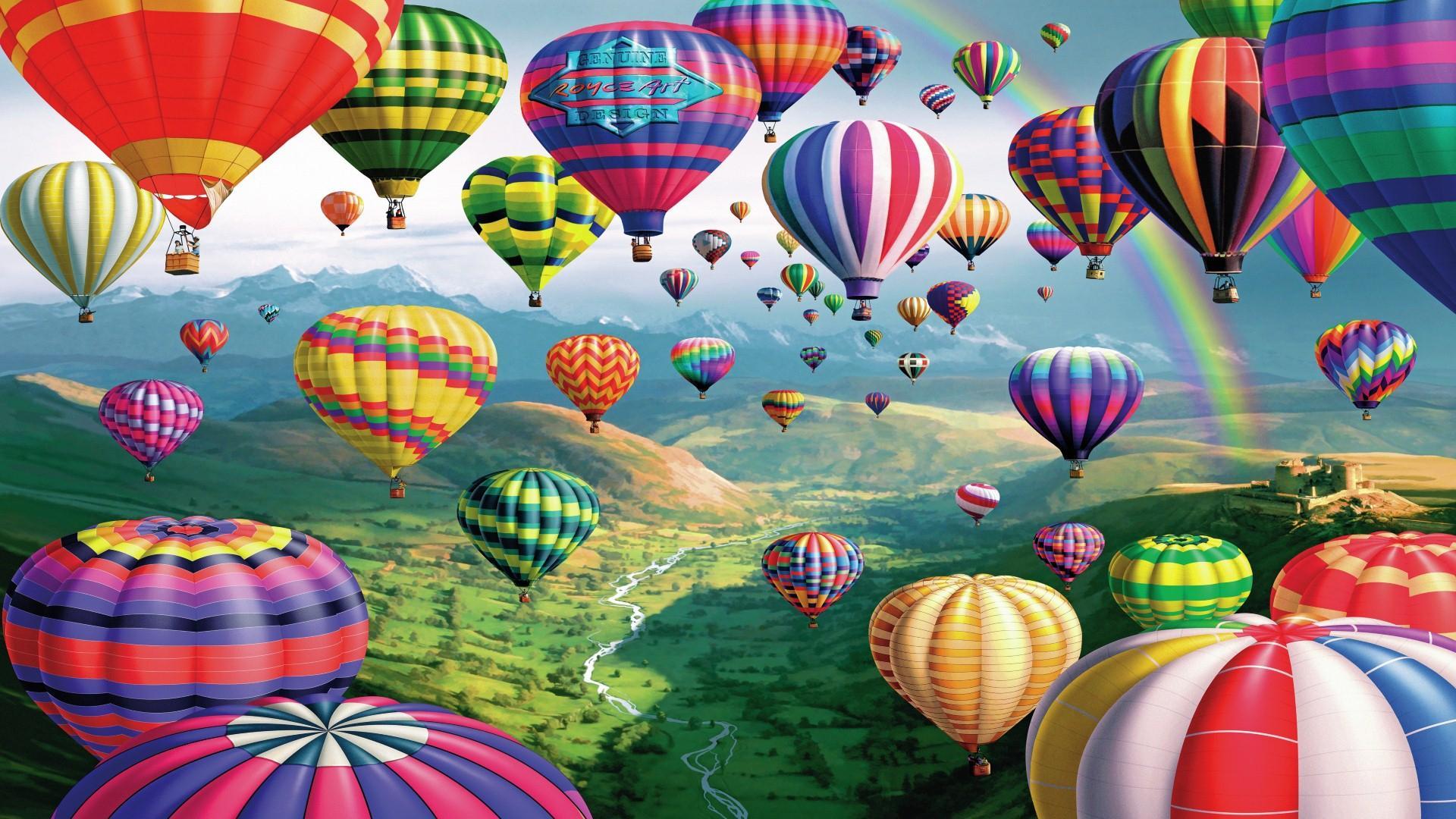 Hình ảnh khinh khí cầu bay đẹp nhất