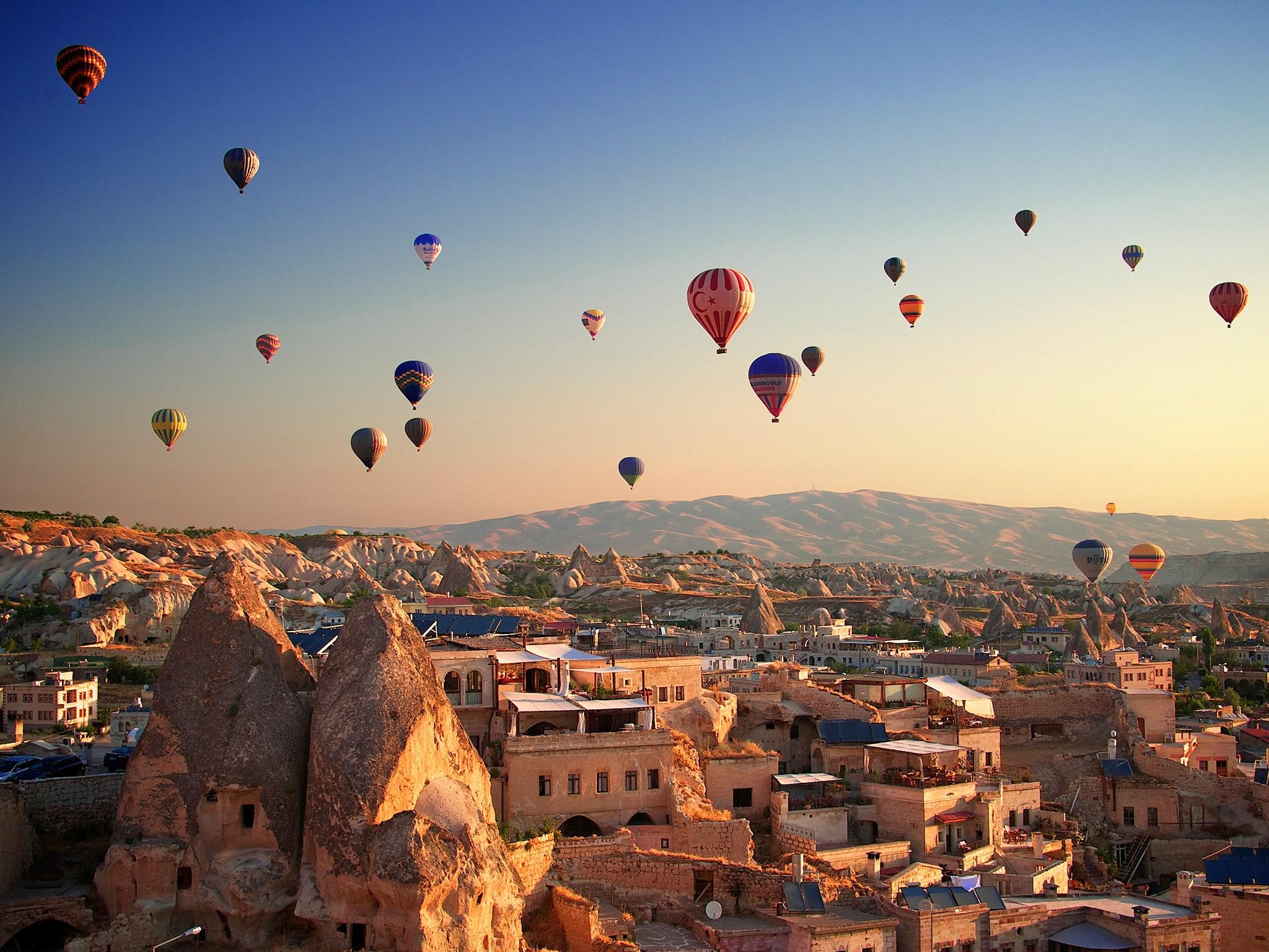 Hình ảnh khinh khí cầu cực đẹp ở Thổ Nhĩ Kỳ