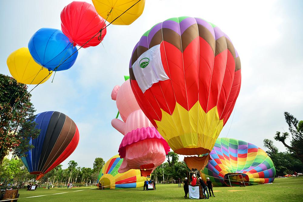 Hình ảnh khinh khí cầu đẹp tổ chức tại Hà Nội