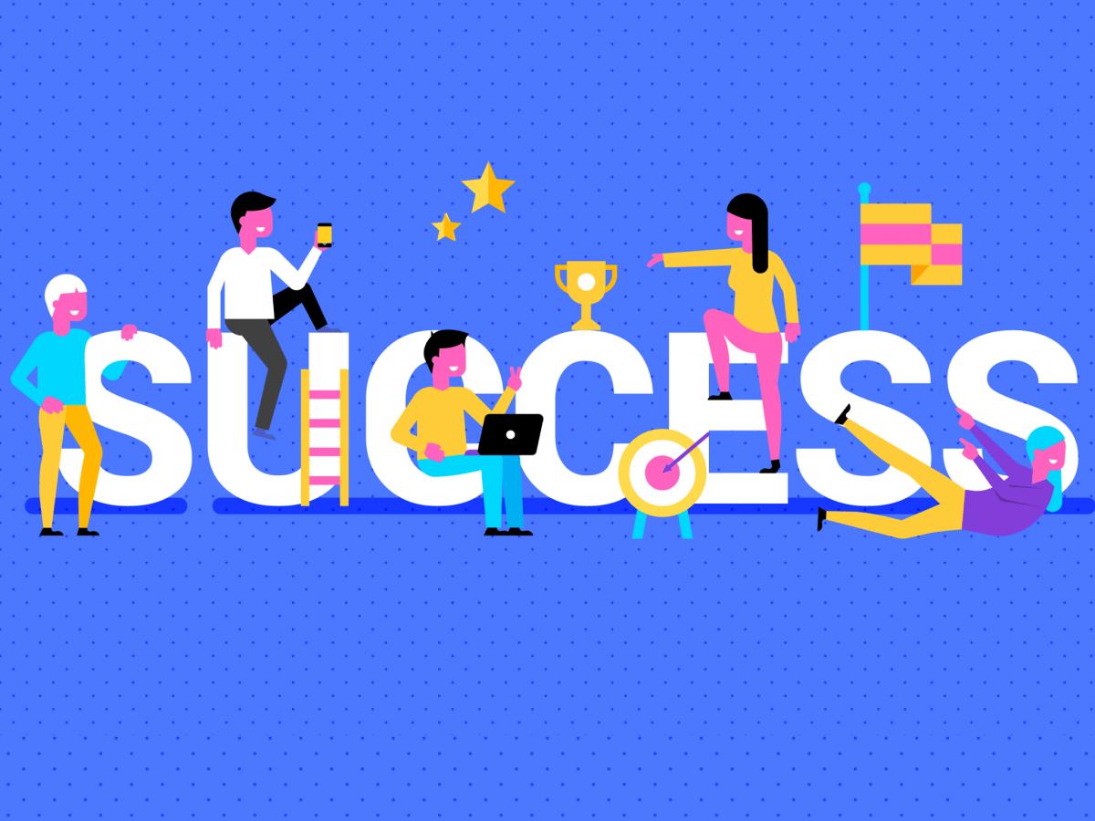 Hình ảnh thành công trong sự nghiệp