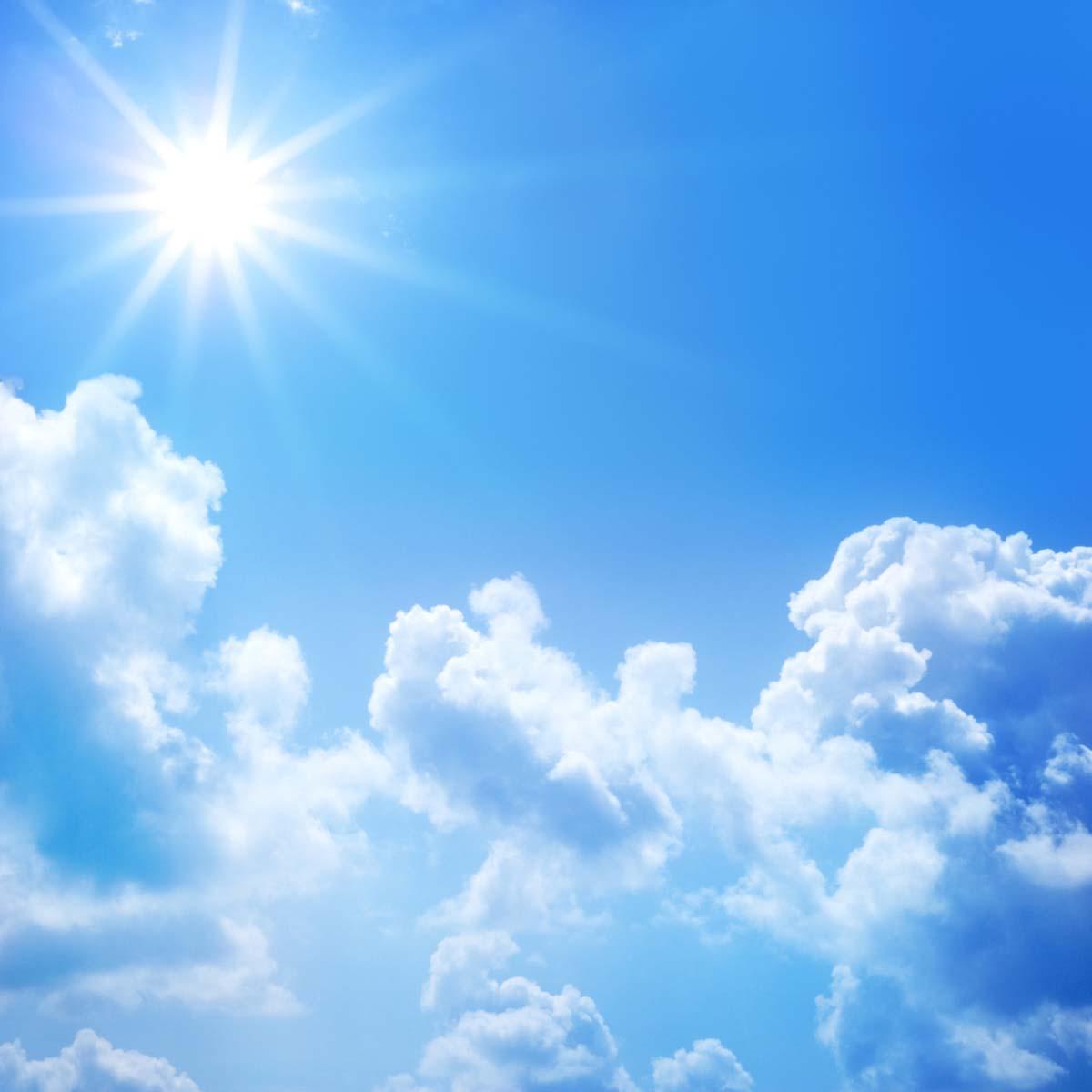 Hình ảnh trời nắng trong xanh đẹp