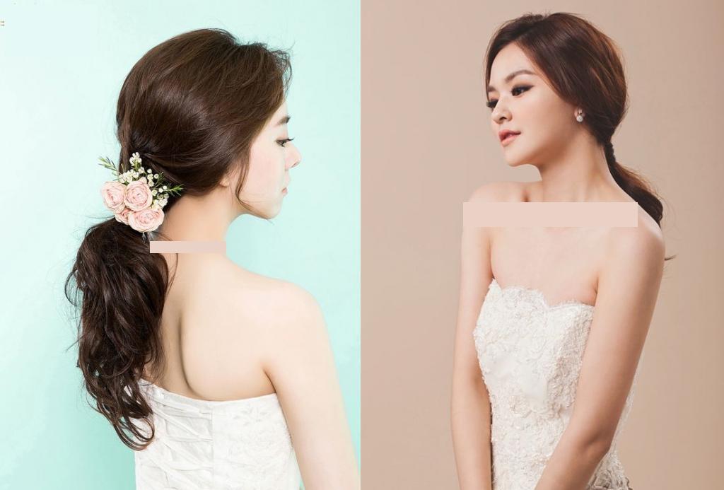 Kiểu buộc tóc cô dâu đơn giản mà xinh nhất