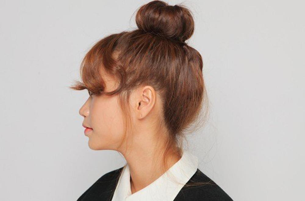 Kiểu buộc tóc củ tỏi đẹp