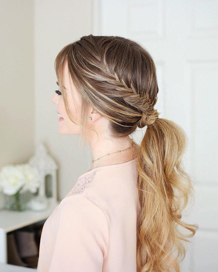 Kiểu buộc tóc đơn giản nhất cho tóc dài