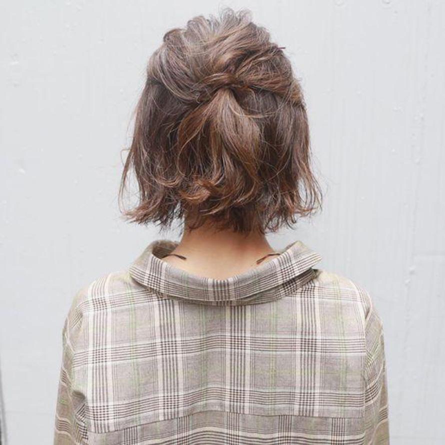 Kiểu buộc tóc ngắn đẹp