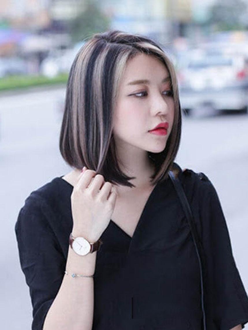Kiểu buộc tóc thẳng ngang vai đẹp nhất