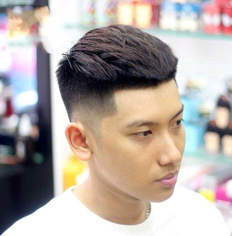 Kiểu tóc đẹp cho nam học sinh mặt nhỏ