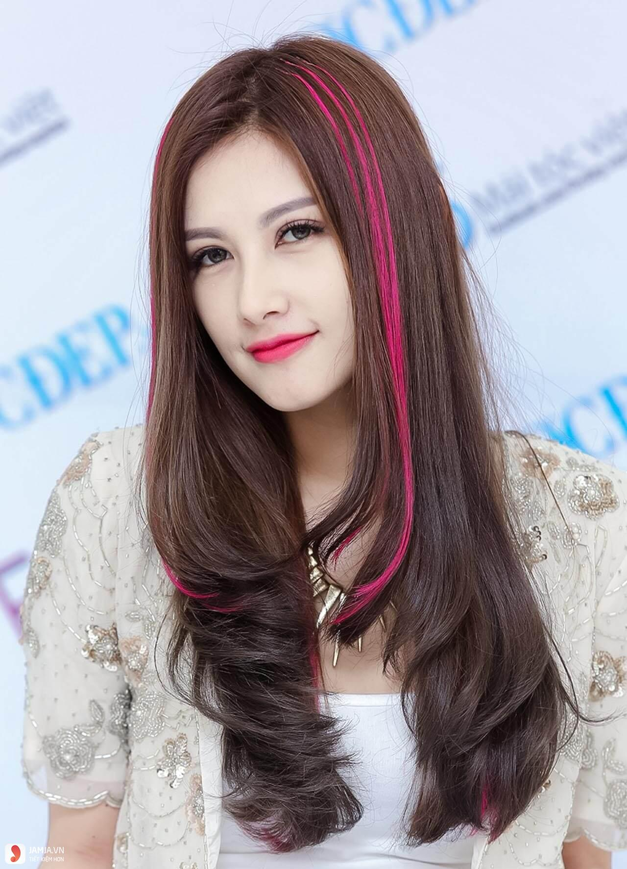 Kiểu tóc móc lai hồng cho nữ