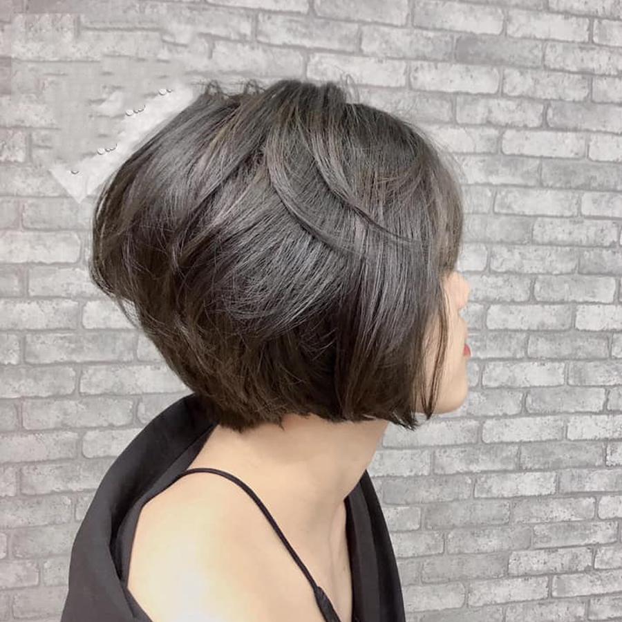 Kiểu tóc ngắn bob cho mặt tròn