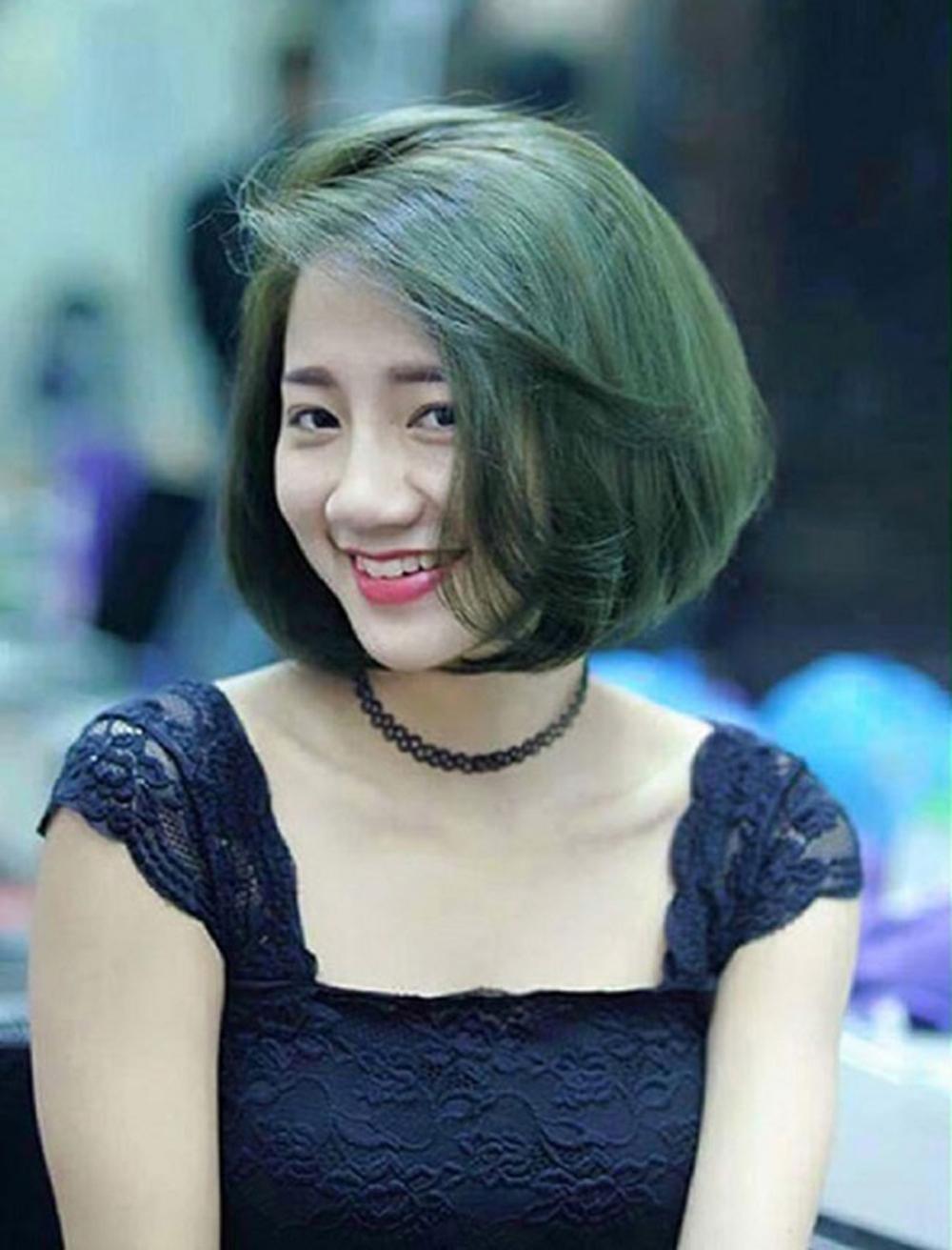 Kiểu tóc ngắn bob mái thưa đẹp