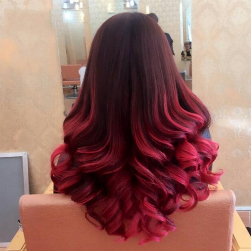 Kiểu tóc nhuộm đỏ nâu đẹp