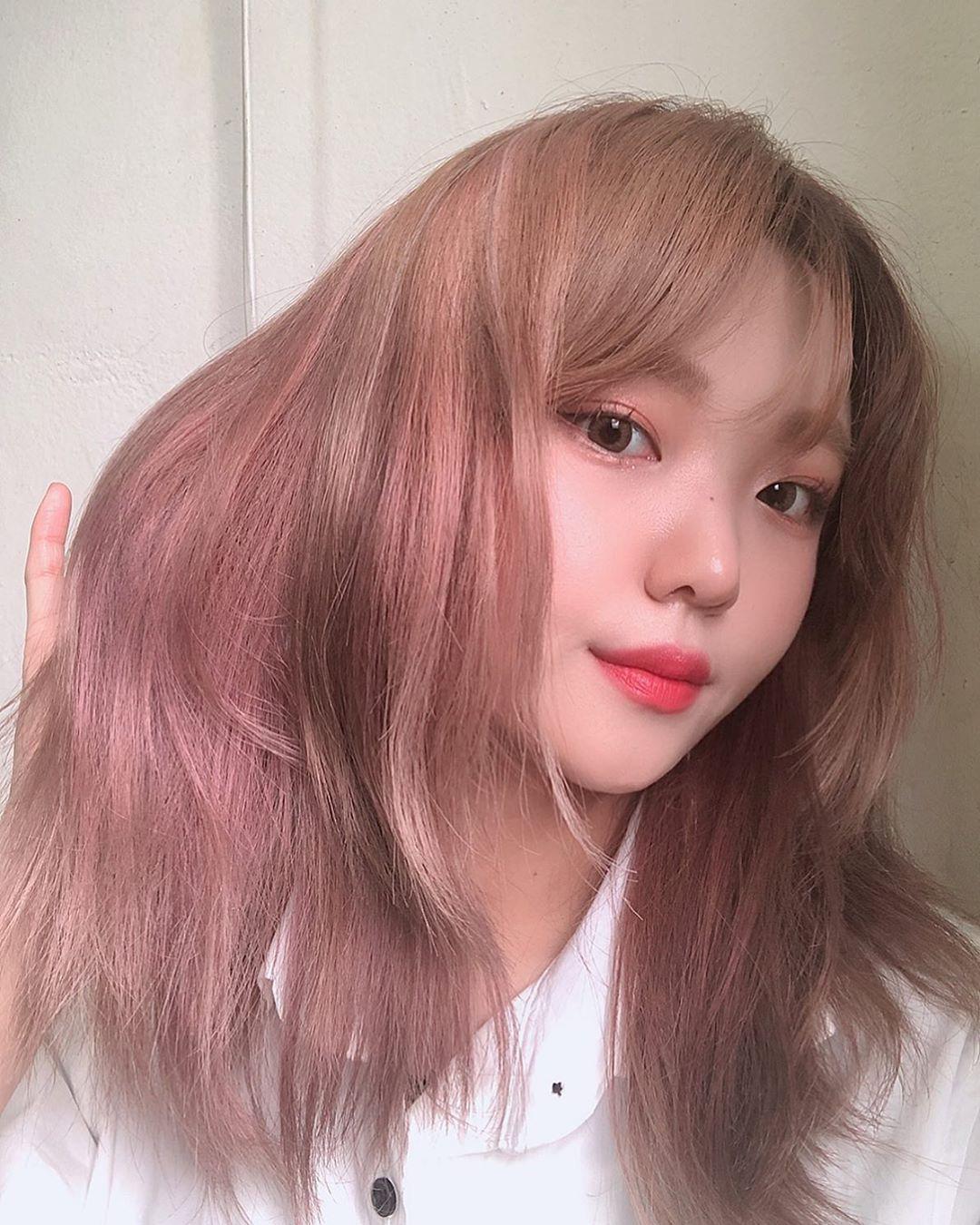 Kiểu tóc nhuộm hồng đẹp