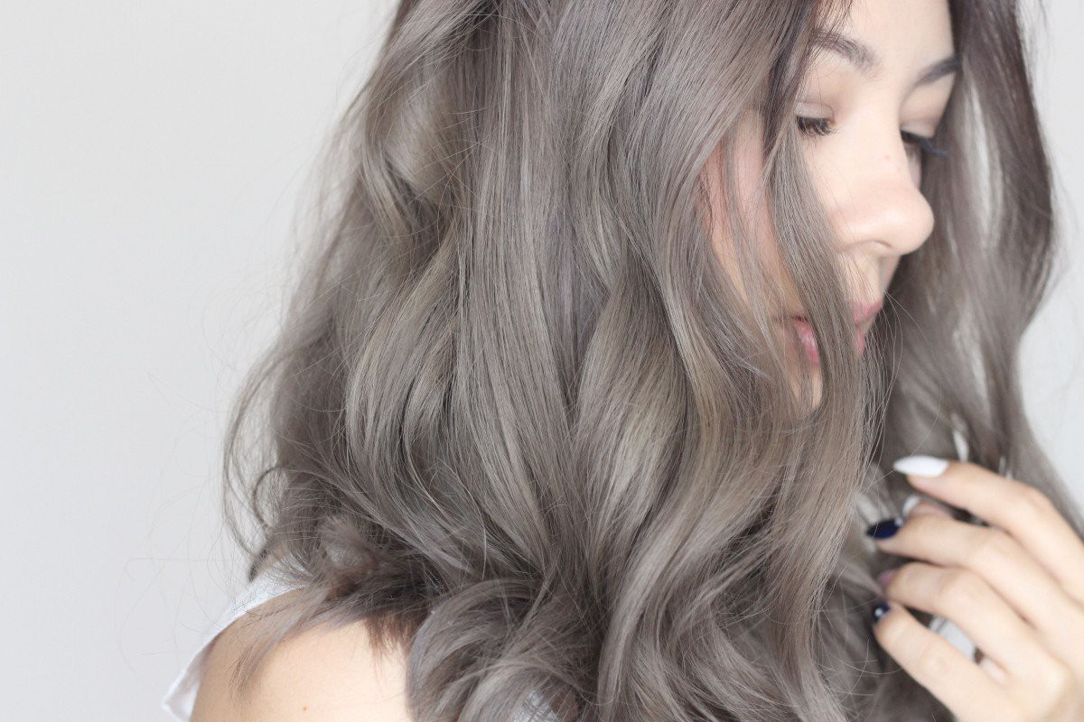 Kiểu tóc nhuộm màu khói đẹp