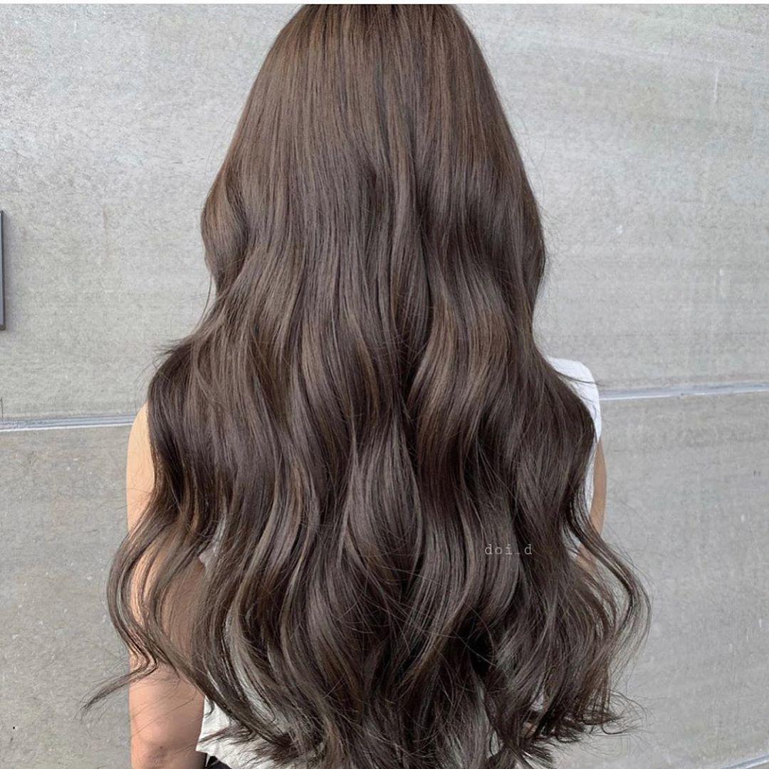 Kiểu tóc nhuộm màu nâu đẹp