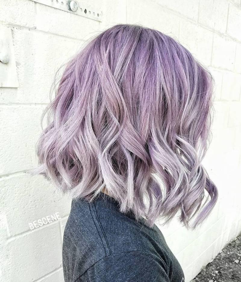 Kiểu tóc nhuộm màu tím đẹp