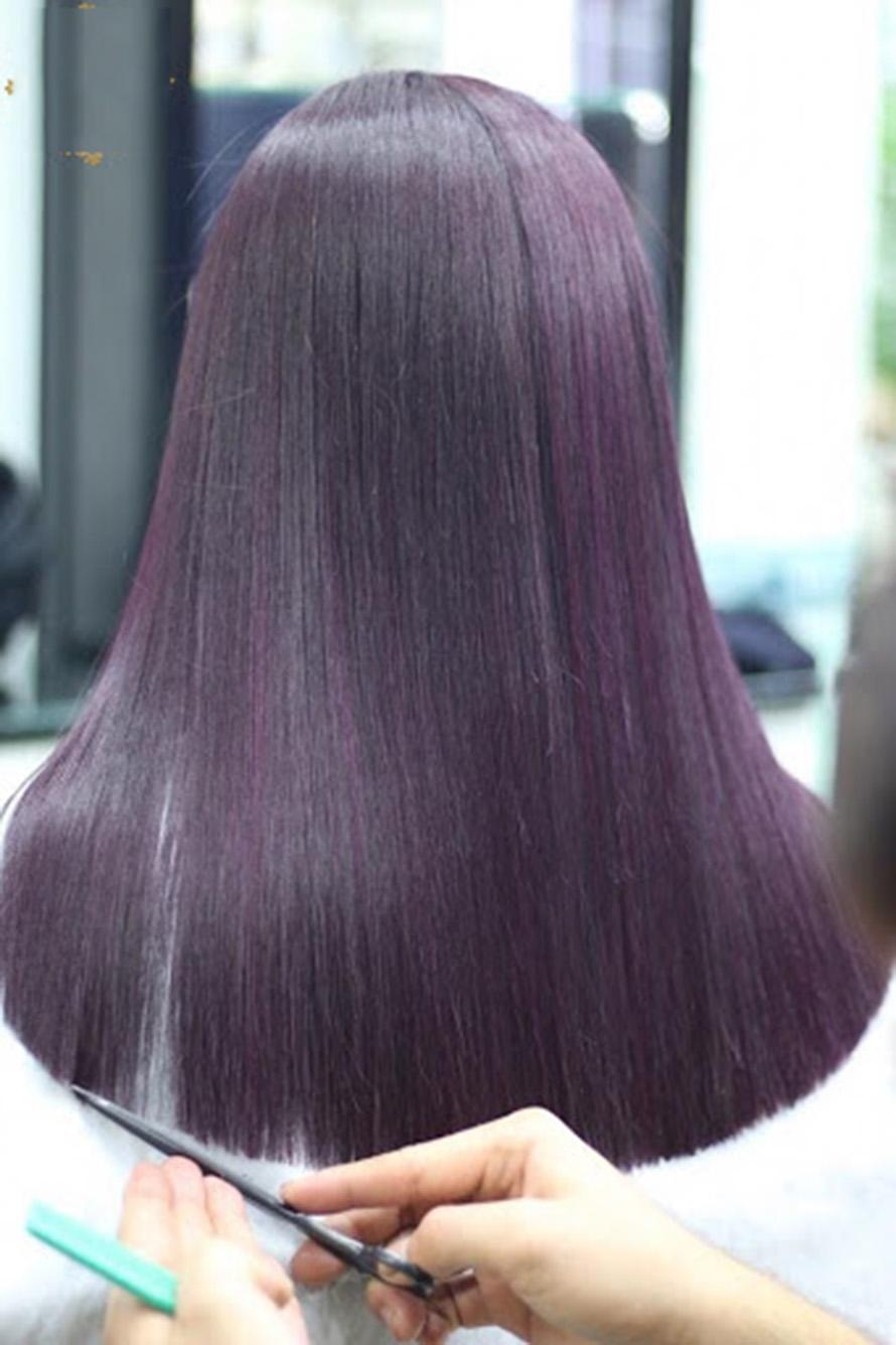 Kiểu tóc nhuộm màu tím