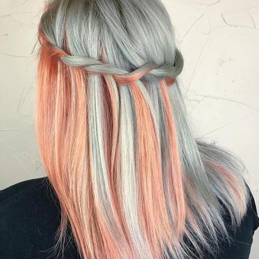 Kiểu tóc nhuộm mix màu