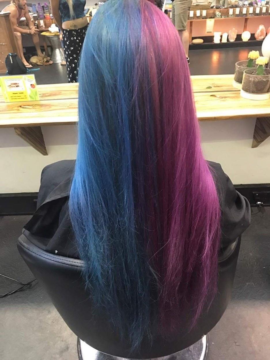 Kiểu tóc nhuộm xanh