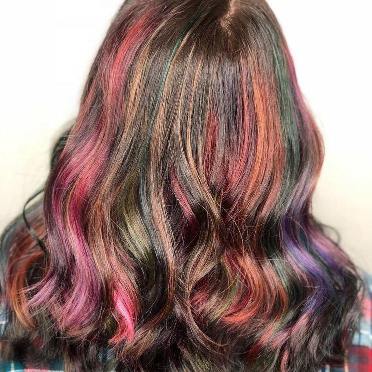 Kiểu tóc tóc nhuộm màu xanh rêu