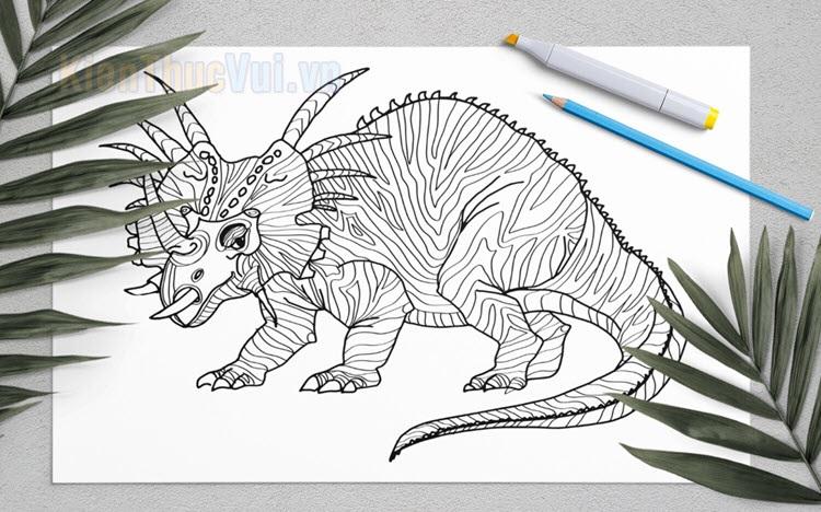 Tranh tô màu khủng long cho bé