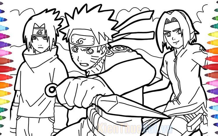 Tranh tô màu Naruto