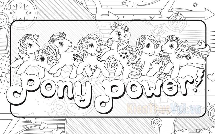 Tranh tô màu ngựa Pony đẹp