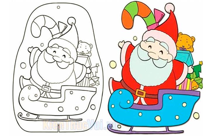 Tranh tô màu ông già Noel