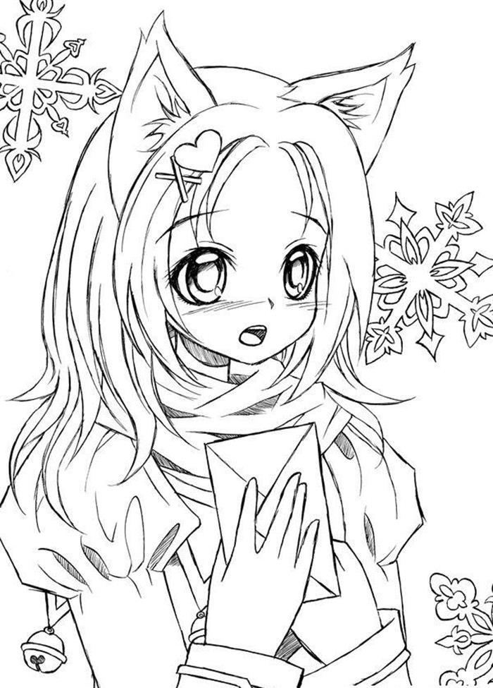 Tranh tô màu Anime chibi cho bé