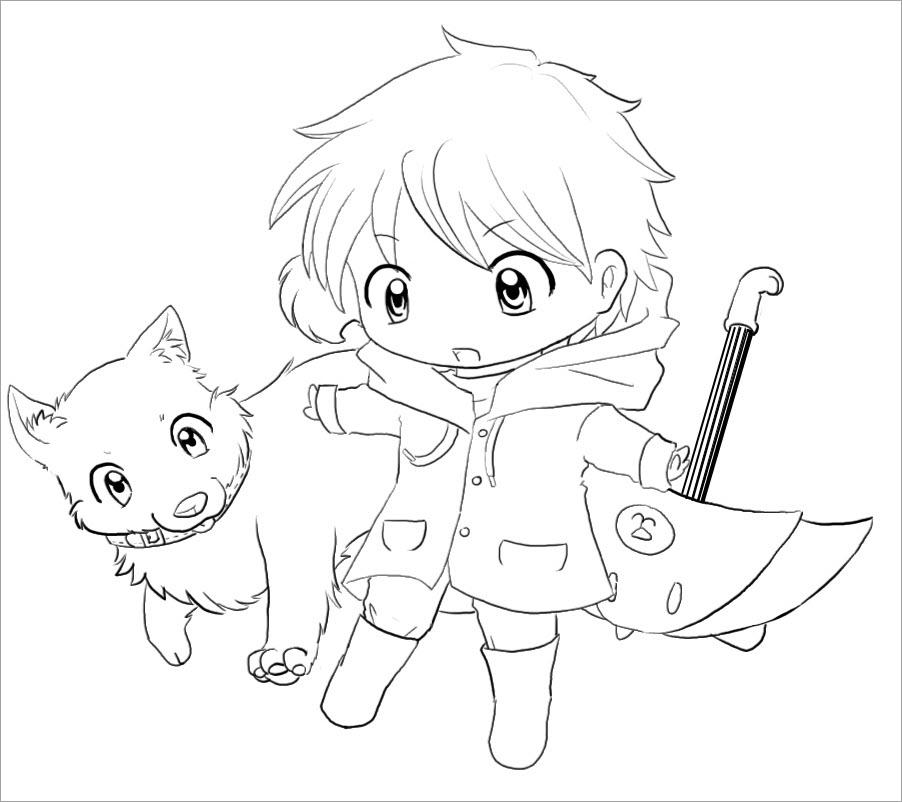 Tranh tô màu anime chibi cute nhất