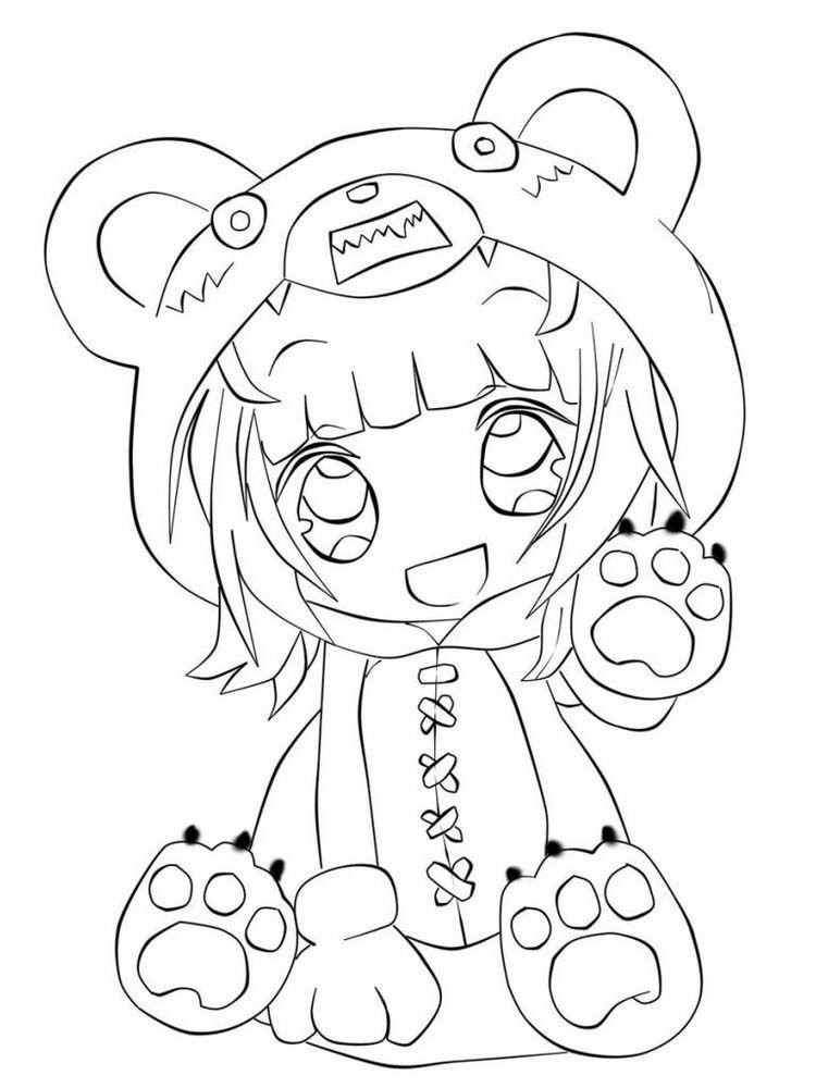Tranh tô màu Anime cho bé cực đẹp