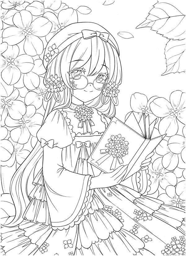Tranh tô màu Anime cho bé đẹp
