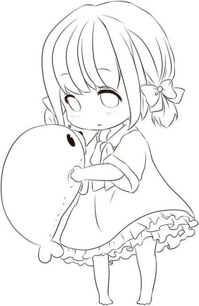 Tranh tô màu anime cute, đẹp nhất